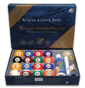 Poolballen Super Aramith pro Value Pack